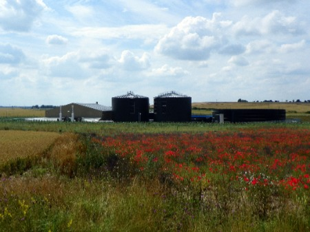 An anaerobic digestion plant.